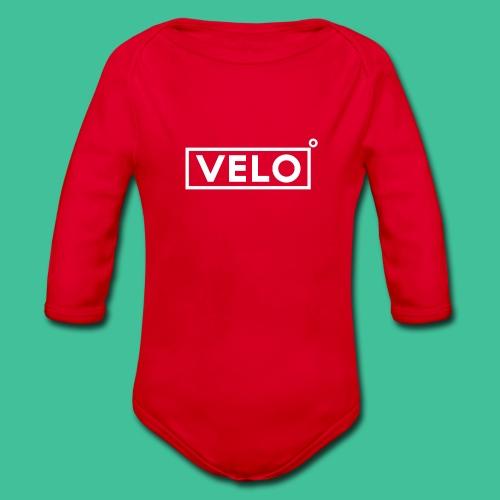 Velo Icon - Red Clr - Organic Longsleeve Baby Bodysuit