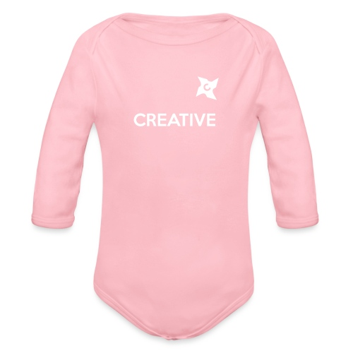 Creative simple black and white shirt - Langærmet babybody, økologisk bomuld