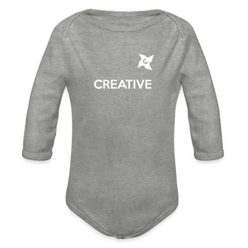 Creative simple black and white shirt - Langærmet babybody, økologisk bomuld