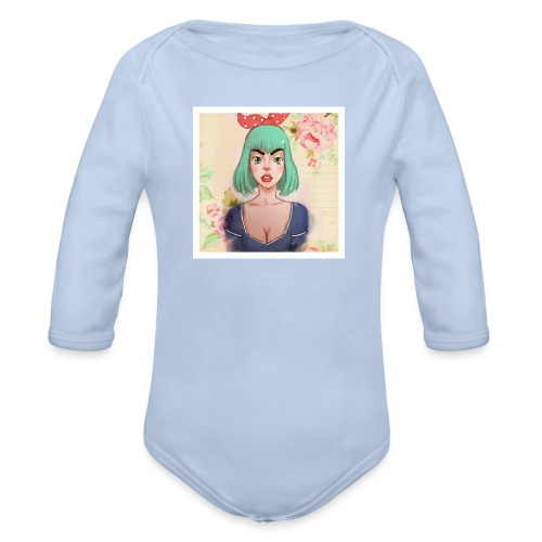 elena of spain - Organic Longsleeve Baby Bodysuit