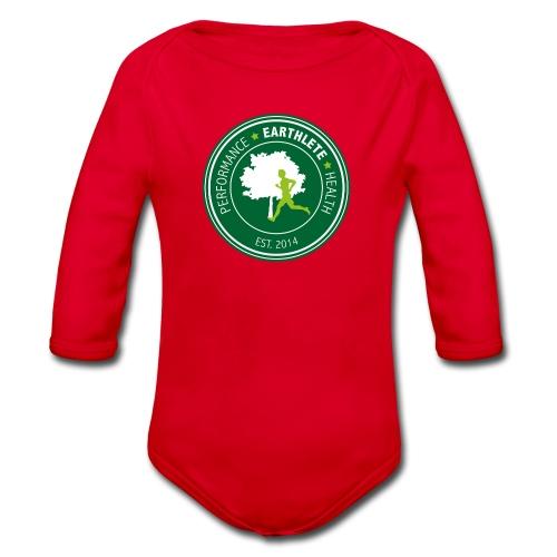 EARTHLETE Brand Logo - Langærmet babybody, økologisk bomuld