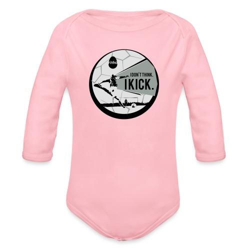 I don't think. I kick - Body ecologico per neonato a manica lunga