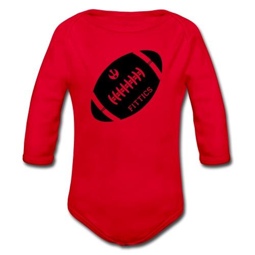 Fittics American Football - Organic Longsleeve Baby Bodysuit