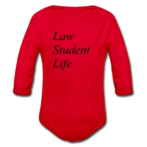 Law Student Life - Body ecologico per neonato a manica lunga