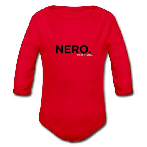 NERO. - Body ecologico per neonato a manica lunga