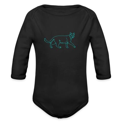 cat - Organic Longsleeve Baby Bodysuit