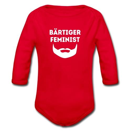 Bärtiger Feminist Kids - Baby Bio-Langarm-Body