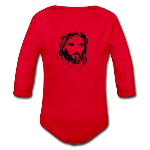 Jesus - Body orgánico de manga larga para bebé