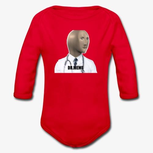 dr meme logo - Organic Longsleeve Baby Bodysuit