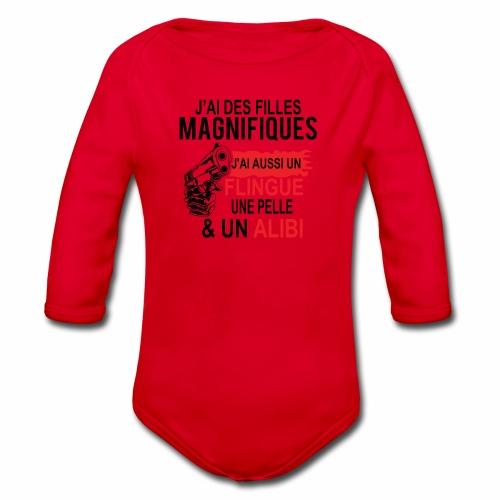 J'AI DEUX FILLES MAGNIFIQUES Best t-shirts 25% - Body Bébé bio manches longues