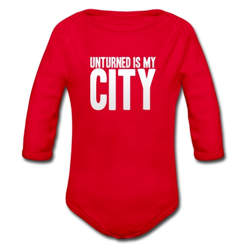 Unturned is my city - Organic Longsleeve Baby Bodysuit