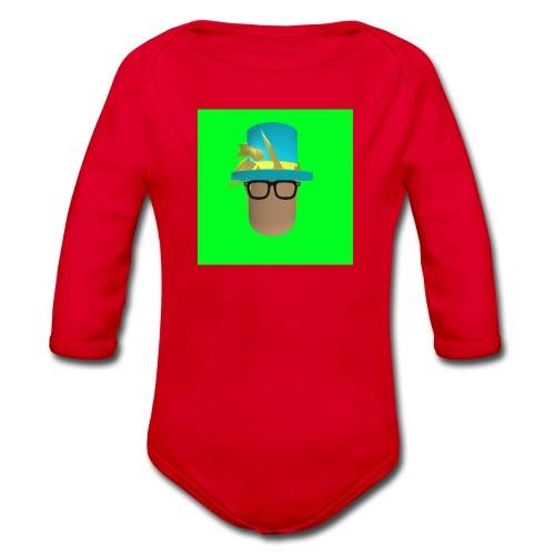 MrWhatWhat Logo Merch - Organic Longsleeve Baby Bodysuit