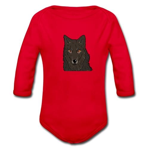 HikingMantis Wolf png - Langærmet babybody, økologisk bomuld