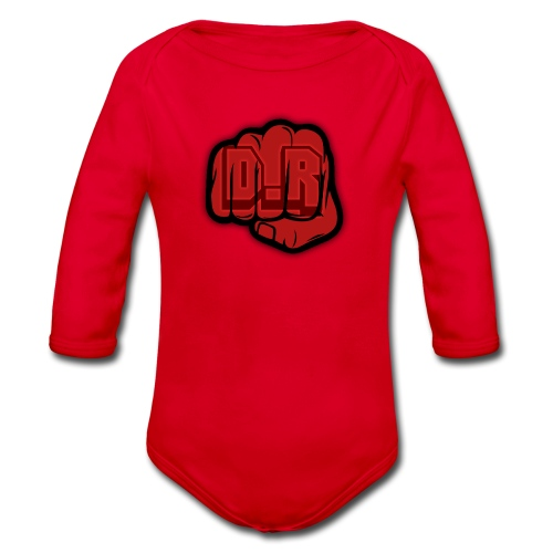 DigitalRelic Big Fist Logo - Ekologisk långärmad babybody