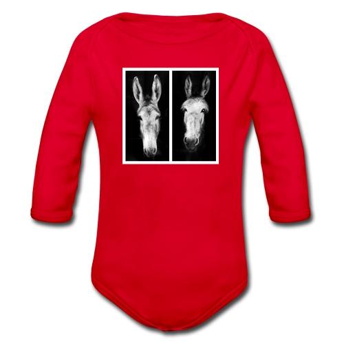 Eselköpfe-Esel - Baby Bio-Langarm-Body