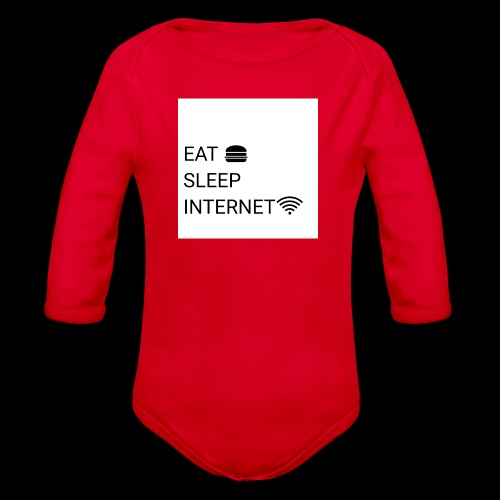 EAT SLEEP INTERNET - Organic Longsleeve Baby Bodysuit