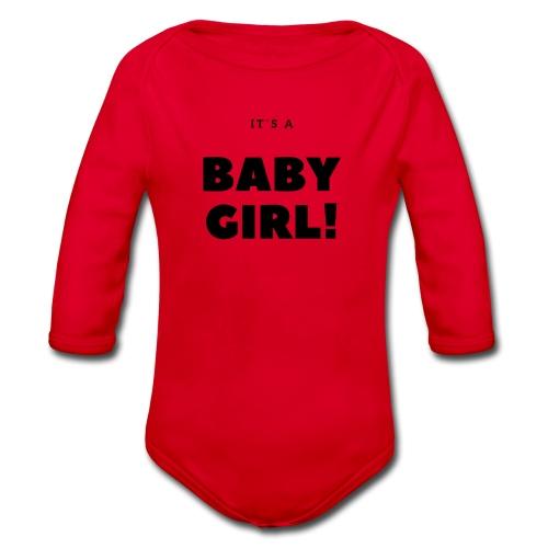 It´s a Baby Girl - Geschenkidee - Baby Bio-Langarm-Body