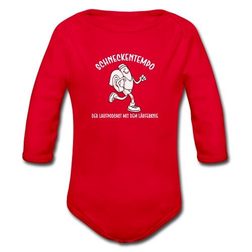 Schneckentempo Logo - Baby Bio-Langarm-Body