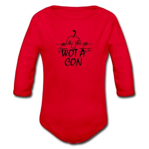 WOT A CON - Organic Longsleeve Baby Bodysuit