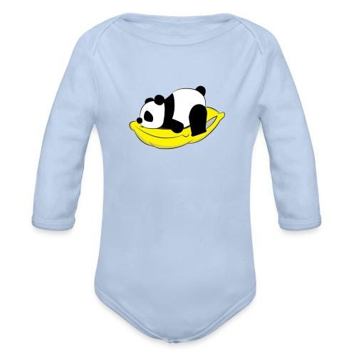 Panda Sleeping / Panda durmiendo - Body orgánico de manga larga para bebé
