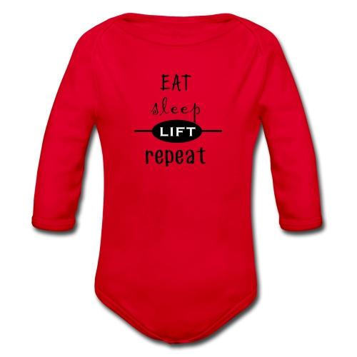 Eat - Sleep - Lift - Repeat - Baby Bio-Langarm-Body