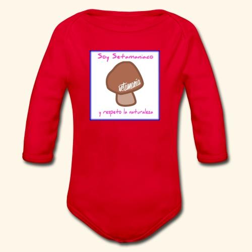 Soy Setamaniaco - Body orgánico de manga larga para bebé