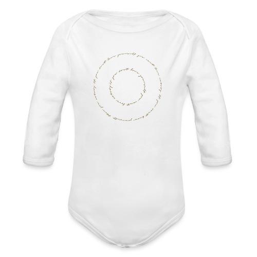 calligrafia black gold - Body ecologico per neonato a manica lunga