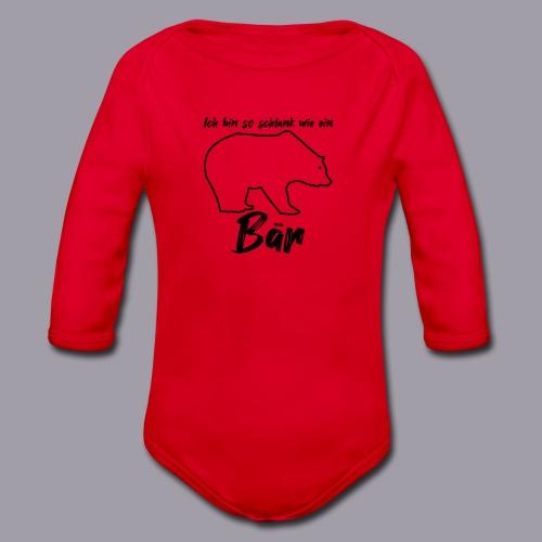 Ich bin so schlank wie ein Bär - Baby Bio-Langarm-Body