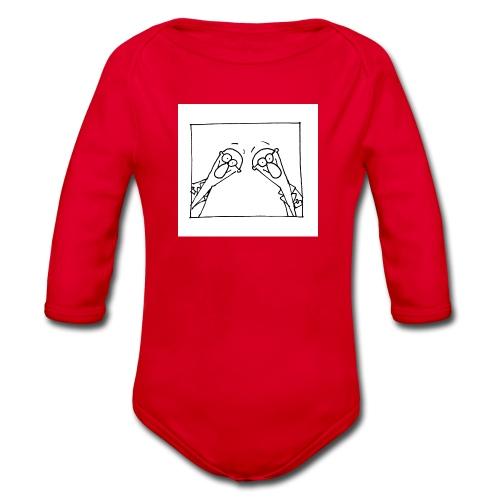 w14 oni - Ekologiczne body niemowlęce z długim rękawem