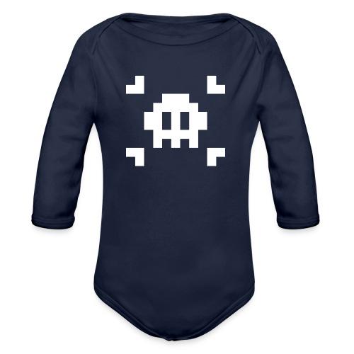 Pixel Skull - Body Bébé bio manches longues