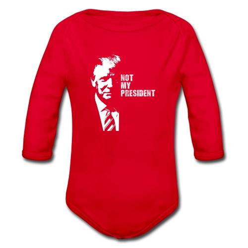 Not my president - Ekologisk långärmad babybody