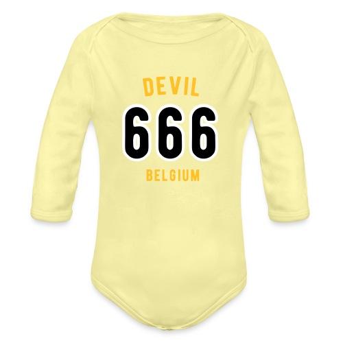 666 devil Belgium - Body Bébé bio manches longues