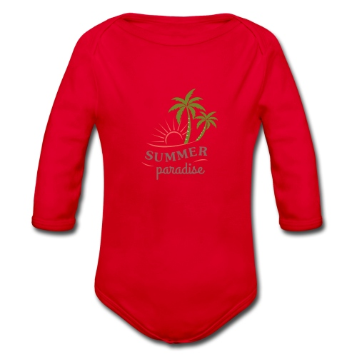 Summer paradise - Organic Longsleeve Baby Bodysuit