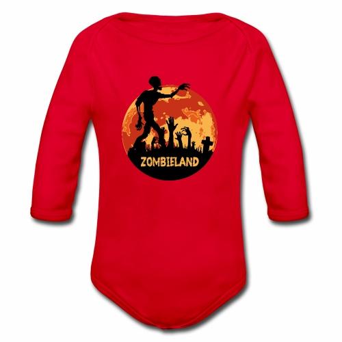 Zombieland Halloween Design - Baby Bio-Langarm-Body