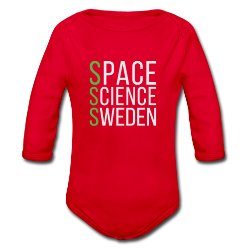 Space Science Sweden - vit - Ekologisk långärmad babybody