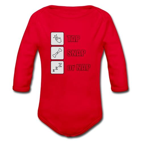 tap snap or nap - Ekologiczne body niemowlęce z długim rękawem