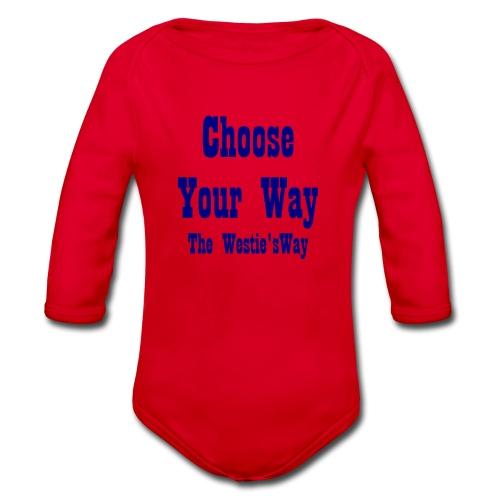 Choose Your Way Navy - Ekologiczne body niemowlęce z długim rękawem