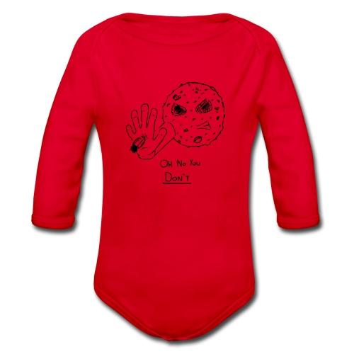 Oh No You Dont Mug - Organic Longsleeve Baby Bodysuit