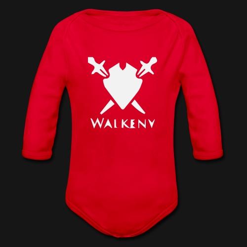 Walkeny Schwert Logo! - Baby Bio-Langarm-Body