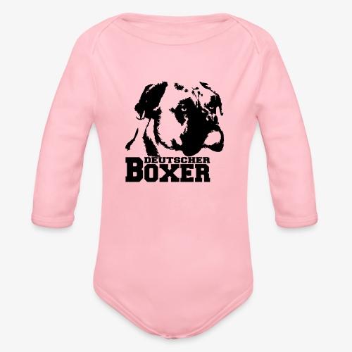 Deutscher Boxer - Baby Bio-Langarm-Body
