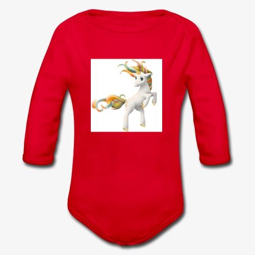 Love Unicorn - Baby Bio-Langarm-Body