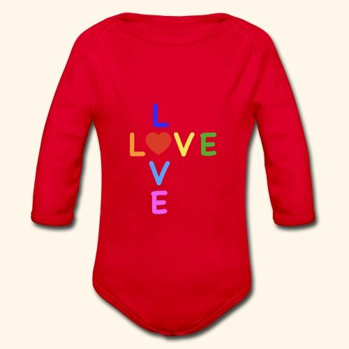 Rainbow Love. Regenbogen Liebe - Baby Bio-Langarm-Body