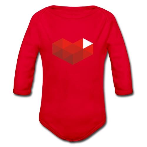 MrKinToast Heart Logo - Organic Longsleeve Baby Bodysuit