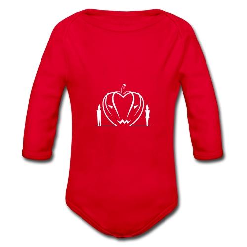 Non aver paura dell'amore... WHITE - Body ecologico per neonato a manica lunga