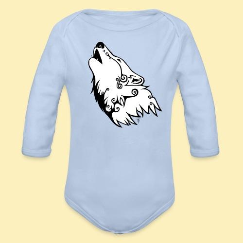 Le Loup de Neved (version blanche) - Body Bébé bio manches longues