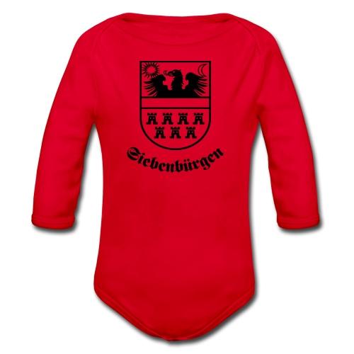 Siebenbürgen-Wappen Siebenbürgen sw - Baby Bio-Langarm-Body