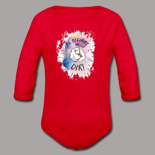 shirt bunt tshirt druck - Baby Bio-Langarm-Body