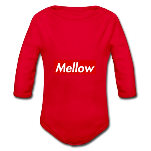 Mellow Red - Organic Longsleeve Baby Bodysuit