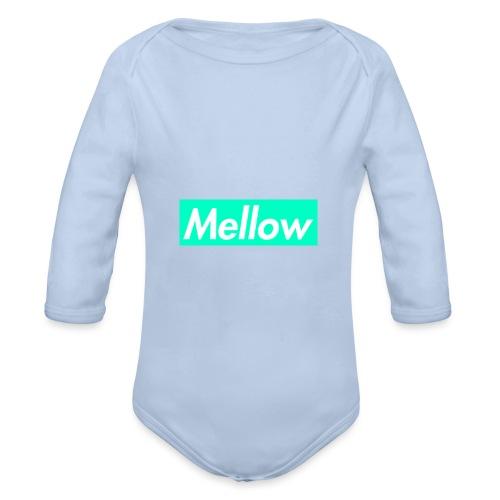 Mellow Light Blue - Organic Longsleeve Baby Bodysuit