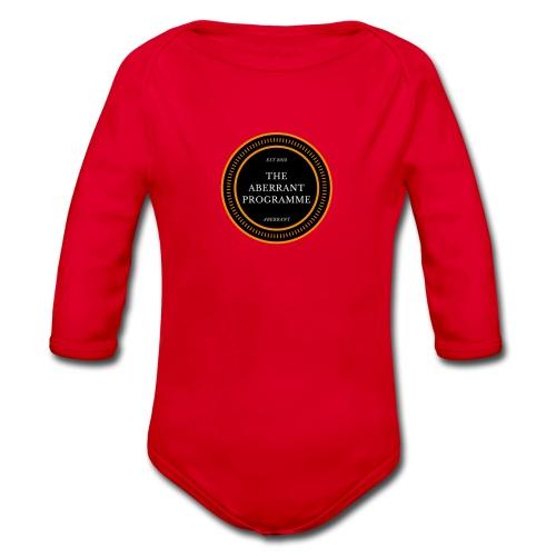 Aberrent Founders Logo - Organic Longsleeve Baby Bodysuit